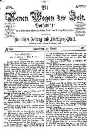 Neue Wogen der Zeit vom 22.08.1878