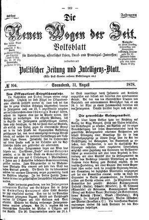 Neue Wogen der Zeit vom 31.08.1878