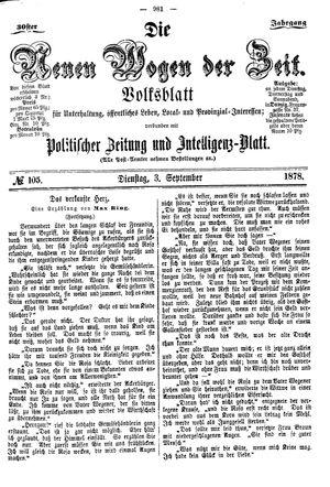 Neue Wogen der Zeit vom 03.09.1878