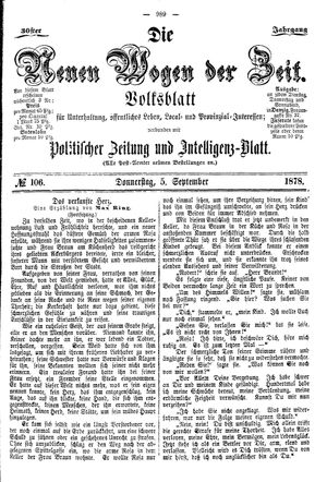 Neue Wogen der Zeit on Sep 5, 1878
