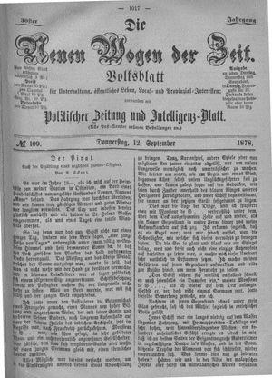Neue Wogen der Zeit vom 12.09.1878