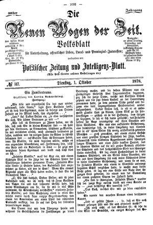 Neue Wogen der Zeit vom 01.10.1878