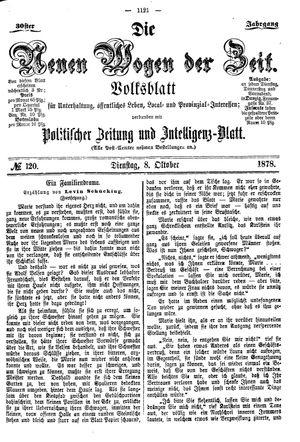 Neue Wogen der Zeit vom 08.10.1878