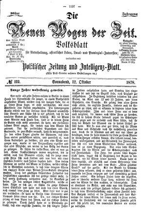 Neue Wogen der Zeit on Oct 12, 1878