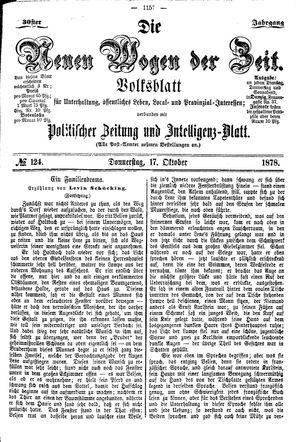 Neue Wogen der Zeit vom 17.10.1878