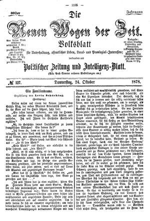 Neue Wogen der Zeit vom 24.10.1878