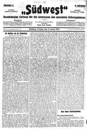Südwest vom 03.01.1913