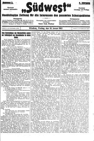 Südwest vom 10.01.1913