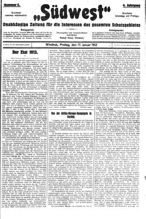 Südwest vom 17.01.1913