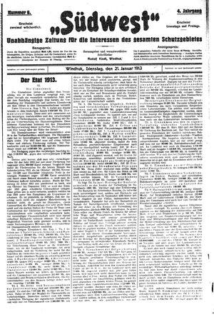 Südwest vom 21.01.1913