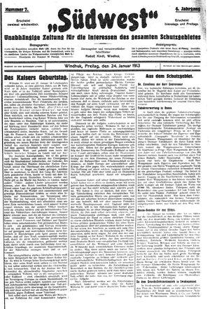 Südwest vom 24.01.1913