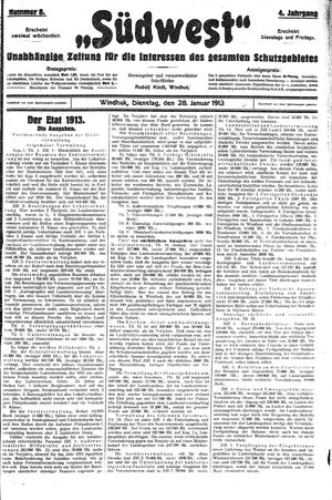 Südwest vom 28.01.1913