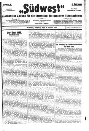 Südwest on Jan 31, 1913