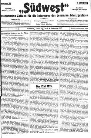 Südwest on Feb 4, 1913