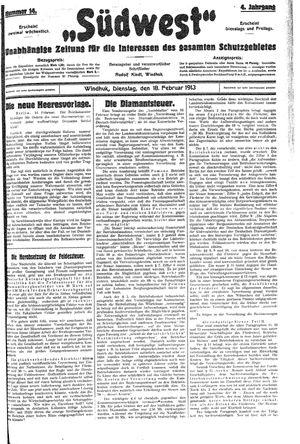 Südwest vom 18.02.1913
