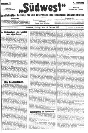 Südwest vom 28.02.1913