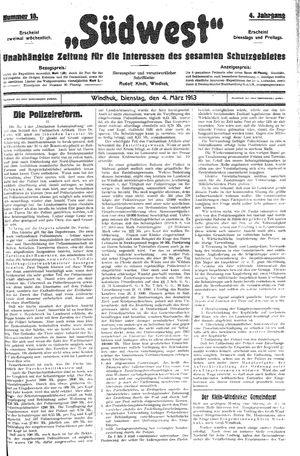 Südwest vom 04.03.1913