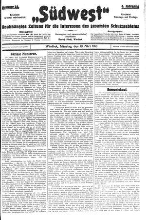 Südwest vom 18.03.1913