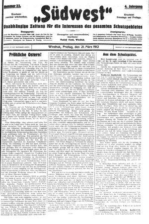 Südwest vom 21.03.1913