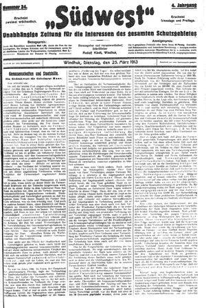 Südwest vom 25.03.1913