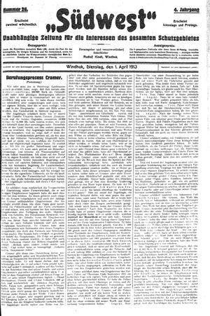 Südwest vom 01.04.1913