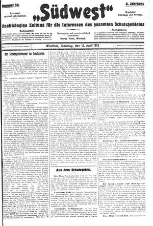 Südwest vom 15.04.1913