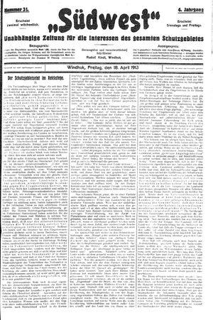 Südwest vom 18.04.1913