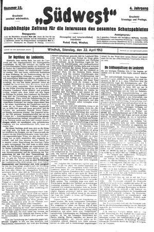 Südwest vom 22.04.1913