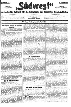 Südwest vom 25.04.1913