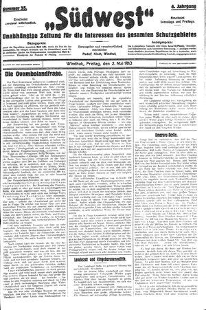 Südwest vom 02.05.1913