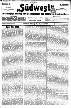 Südwest vom 02.01.1914
