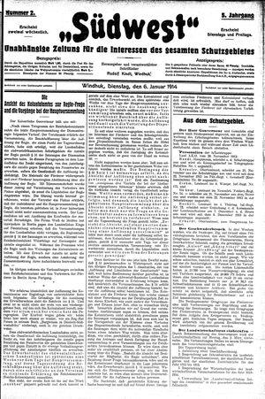 Südwest vom 06.01.1914