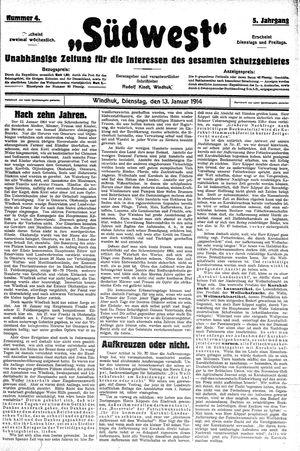 Südwest vom 13.01.1914