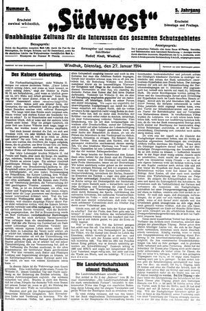 Südwest vom 27.01.1914