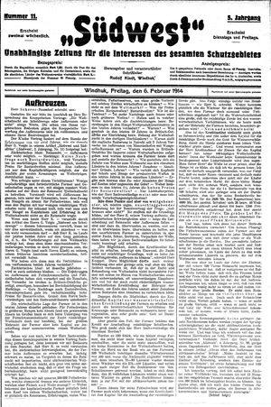 Südwest vom 06.02.1914