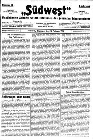 Südwest vom 24.02.1914