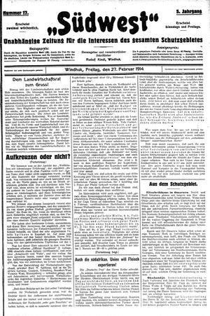 Südwest vom 27.02.1914