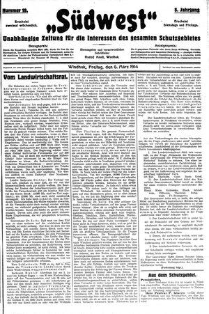 Südwest vom 06.03.1914