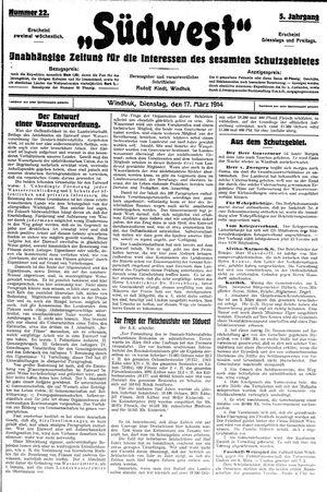 Südwest vom 17.03.1914