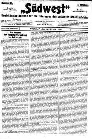 Südwest vom 20.03.1914