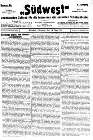 Südwest vom 24.03.1914
