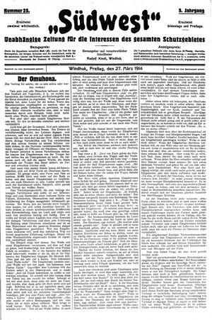 Südwest vom 27.03.1914