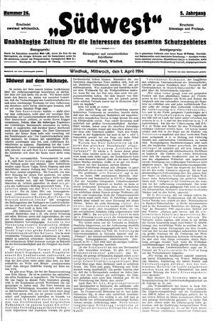 Südwest vom 01.04.1914