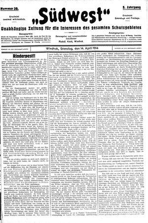 Südwest vom 14.04.1914