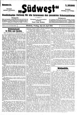 Südwest vom 24.04.1914