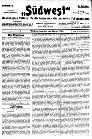 Südwest vom 28.04.1914
