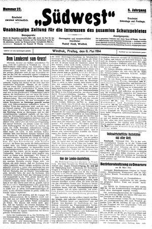 Südwest vom 08.05.1914