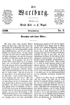 ˜Dieœ Wartburg vom 22.11.1850