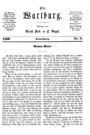 ˜Dieœ Wartburg vom 29.11.1850
