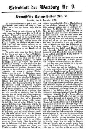 ˜Dieœ Wartburg vom 06.12.1850